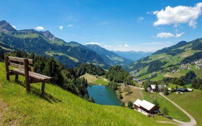 The Seewaldsee in the Grosses Walsertal