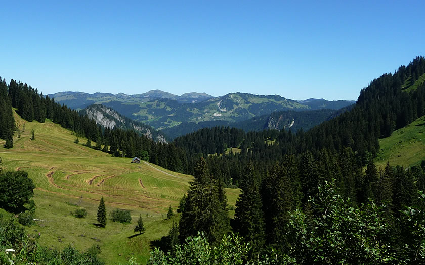 The mountain landscape of the Bregenzerwald