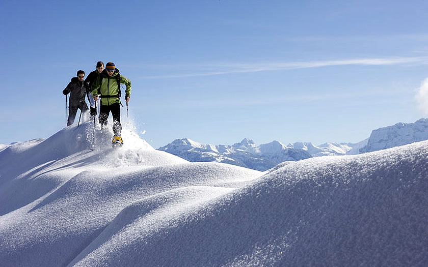 Snowshoeing at the Bödele