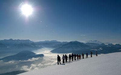 Snowshoe hiking in the Bregenzerwald