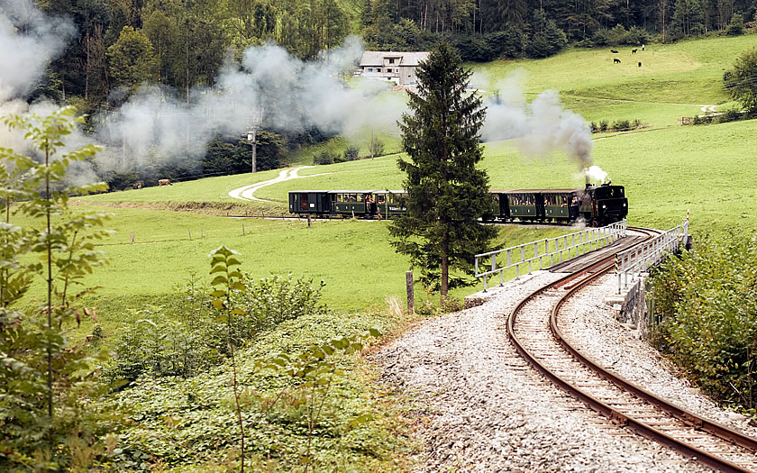 The bregenzerwaldbahn in the Vorarlberg
