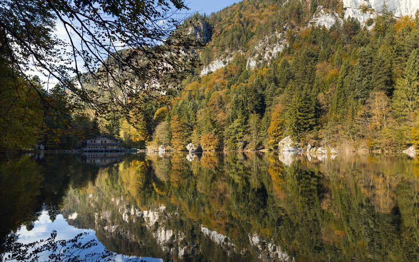 The Berglsteiner See in Breitenbach