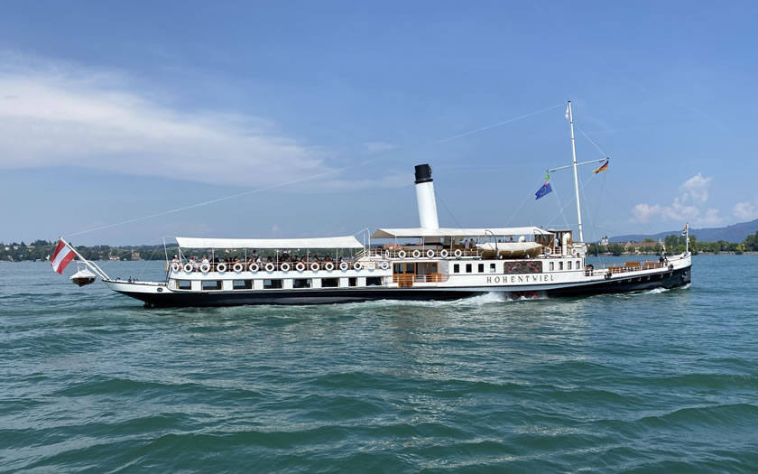 The Hohentweil steam ship on Lake Constance