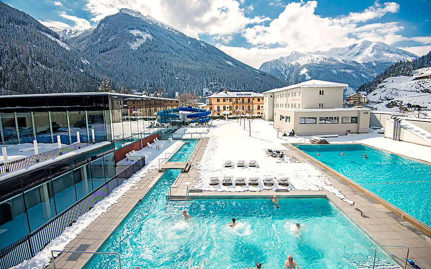 The Felsentherme spa in Bad Gastein