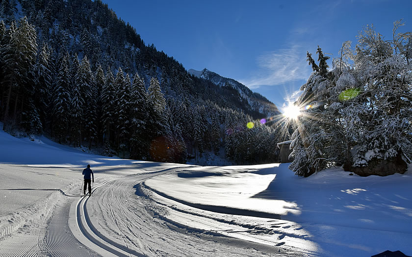 Cross-country skiing in Ginzling