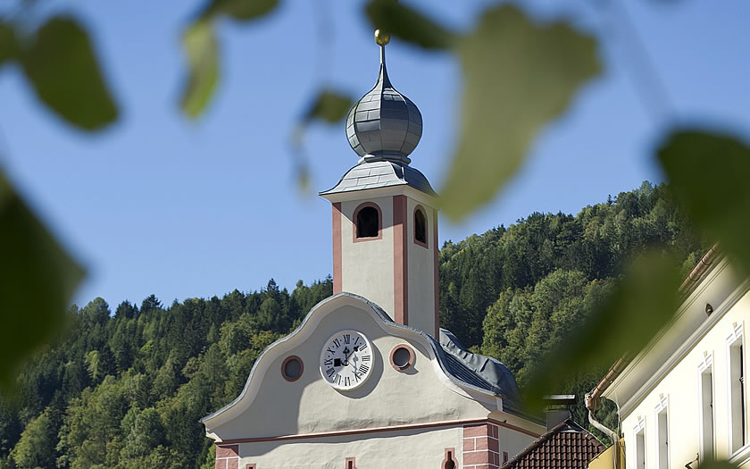 The church in Gmünd, Carinthia