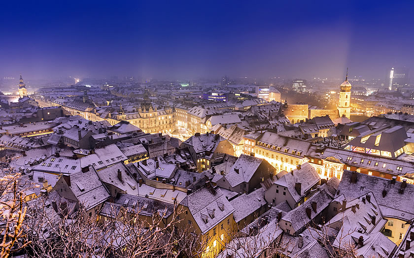 Snow in Graz