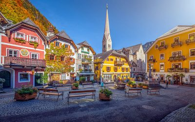 The town square in Hallstatt