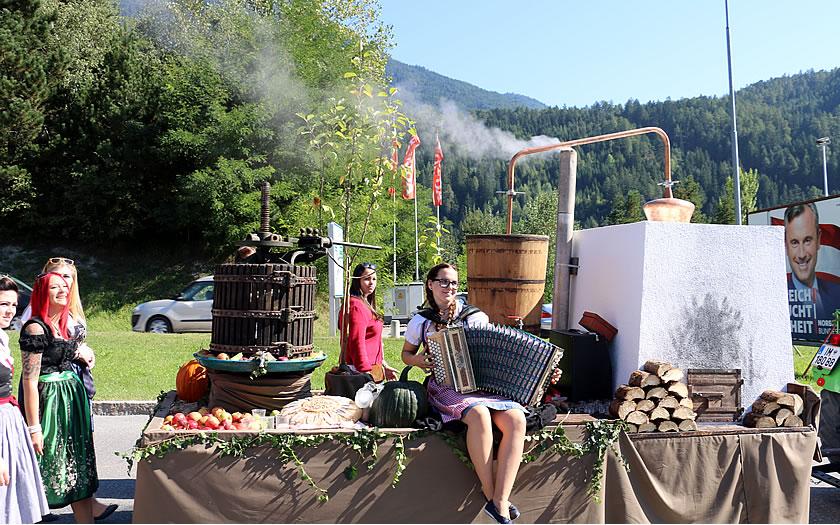 The harvest festival celebrations in Imst.