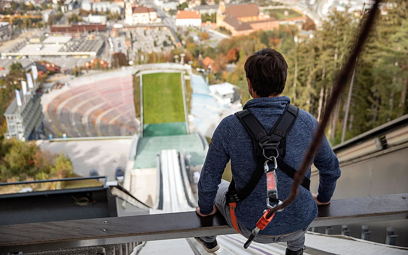 On the 'Zitterbalken' at the Bergisel ski jump