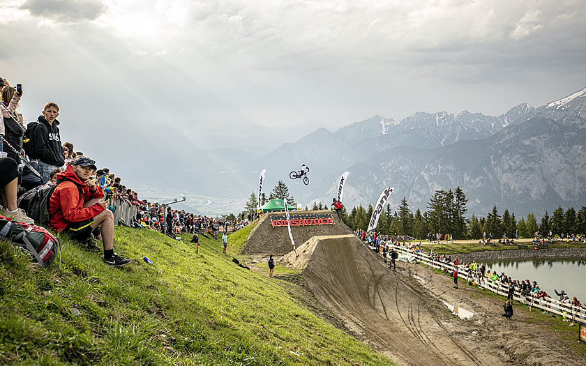 The Crankworx freeride bike event in Innsbruck