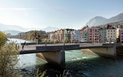 The River Inn in Innsbruck, Austria