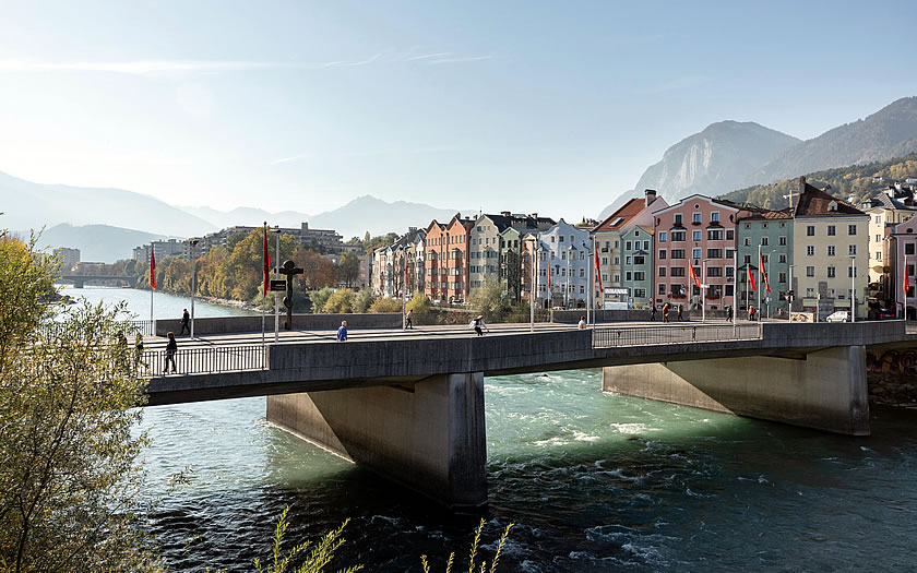 The River Inn in Innsbruck, Austria
