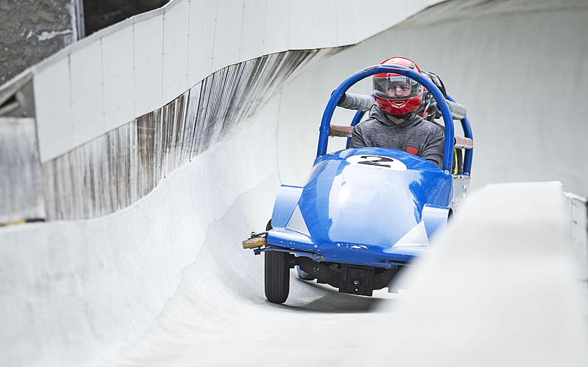 Summer bobsleigh in Igls near Innsbruck