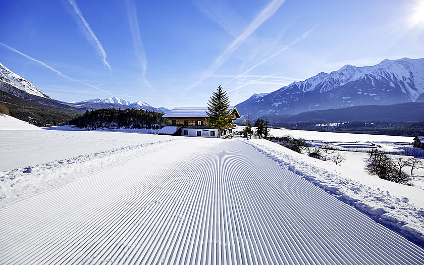 Winter walking trail near Innsbruck