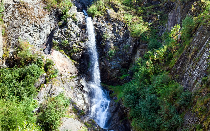 The Verpeil waterfall in the Kaunertal