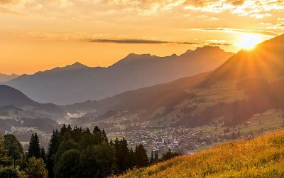 Sunset in the Kleinwalsertal