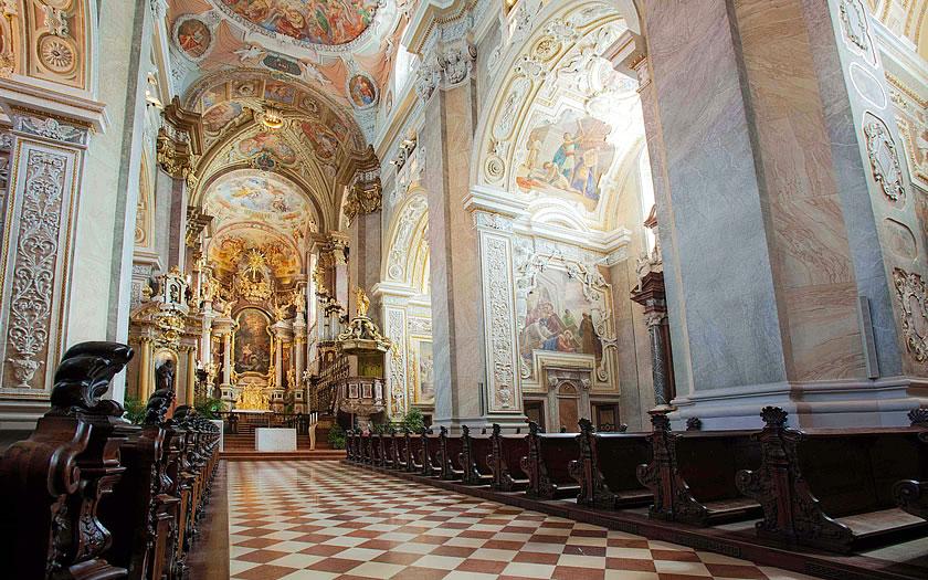 The Stiftskirche at Klosterneuburg Abbey in Lower Austria
