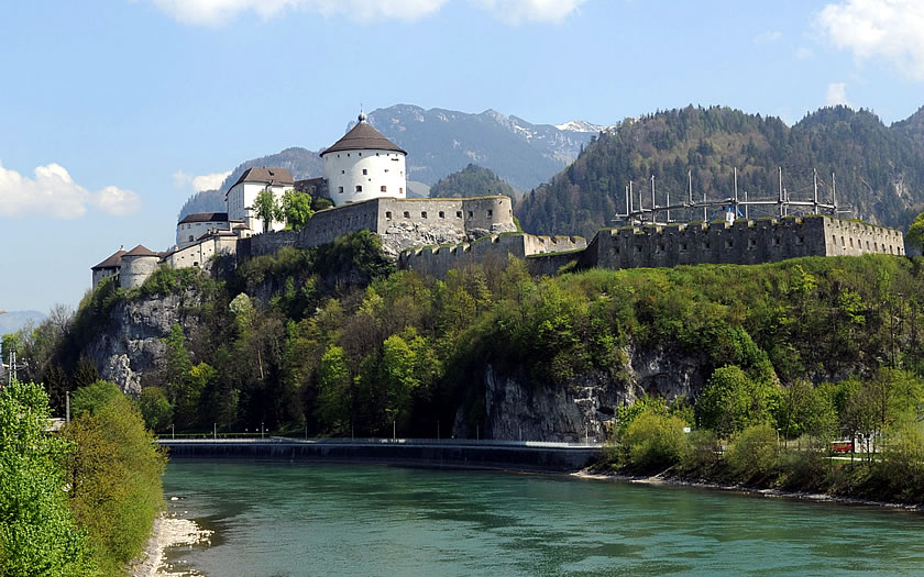 The fortress at Kufstein in the Tyrol