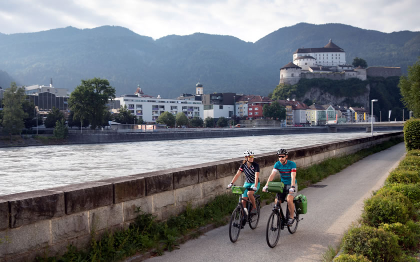 The River Inn cycle trail at Kufstein