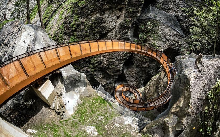 The Helix steps at the Liechtensteinklamm near St Johann im Pongau
