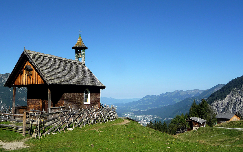The views from the Alpengasthof Rellseck on the Bartholomäberg in the Montafon