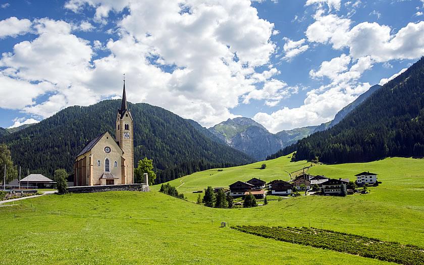 The village of Kartitsch in the Osttirol