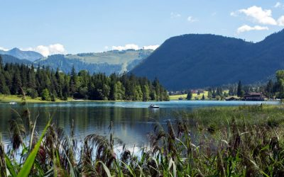The Pillersee lake in the Tyrol