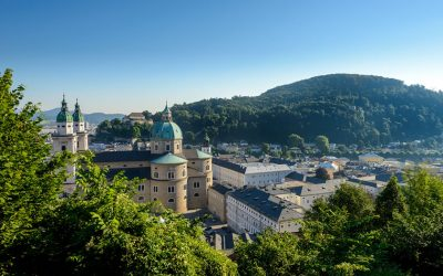 View from one the Salzburg city hills