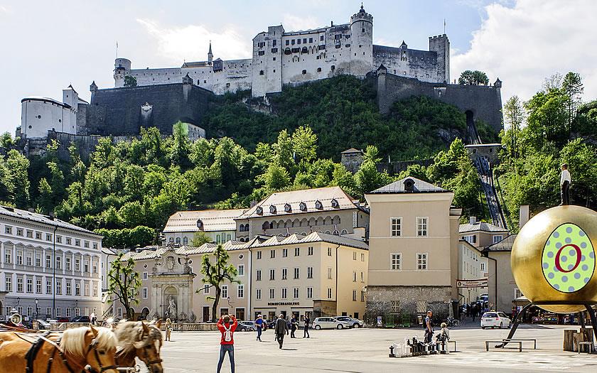 Kapitelplatz in Salzburg Austria