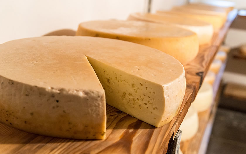 Cheese made on the alpine pastures