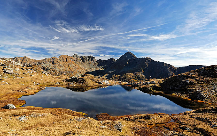 The Lenisee lake in the Schladminger Tauern mountains
