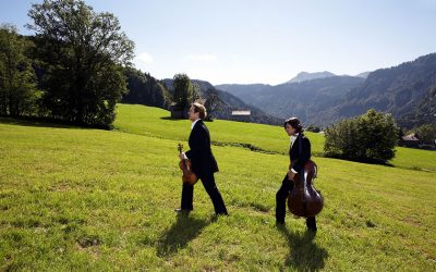 Musicians in the mountains of the Vorarlberg