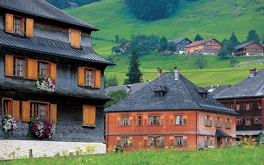 The village of Schwarzenberg in the Bregenzerwald.