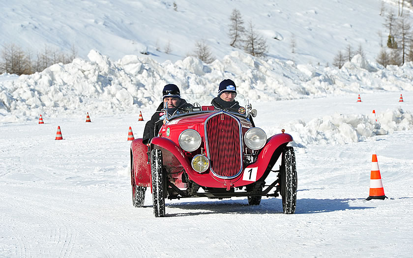 The Mille Miglia race in winter