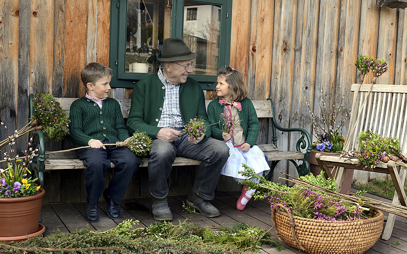Palm Sunday family traditions in Styria