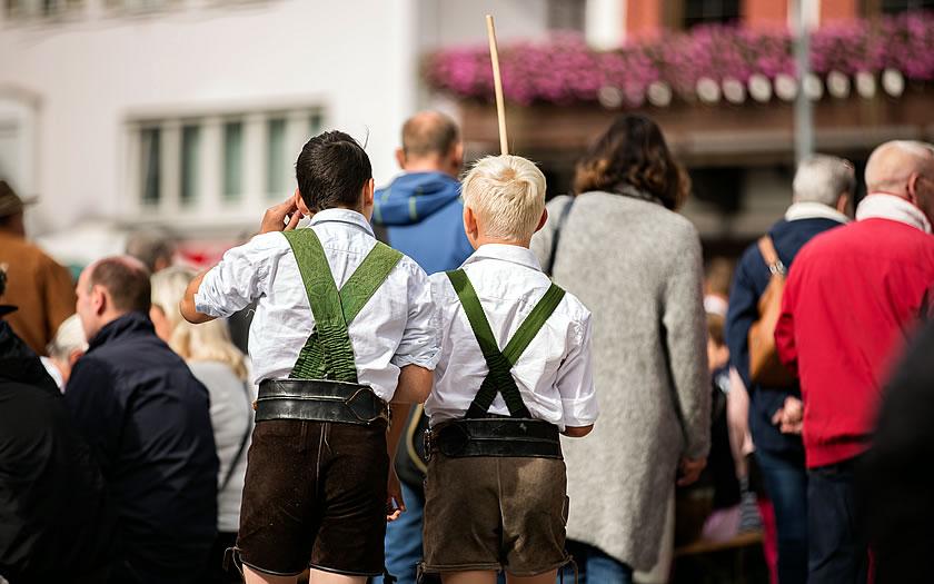 Visitors to the St Johann Dumpling Festival