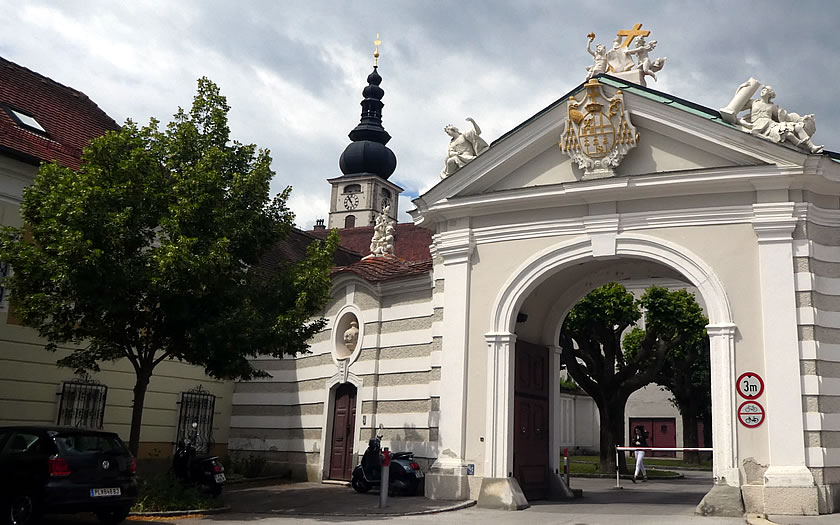 The Bischofstor entrance to St Polten Cathedral