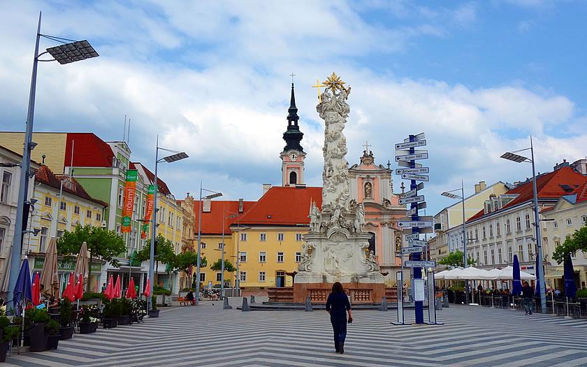 The Holy Trinity column in St Pölten