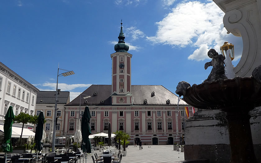Rathausplatz in St Polten Austria