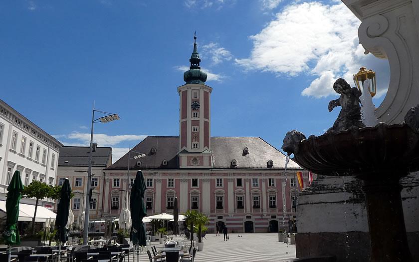 Rathausplatz in St Polten Austria