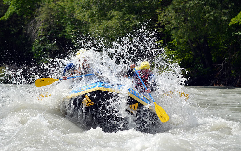 Rafting on the River Inn