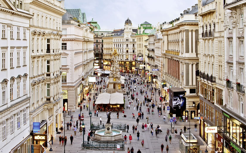 The Graben in central Vienna