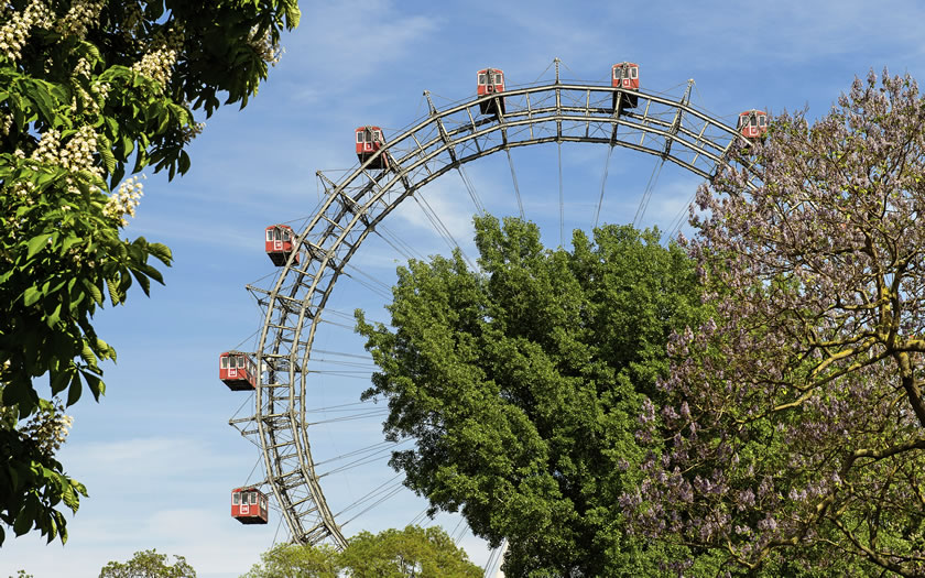 The Riesenrad in Vienna's Prater Park