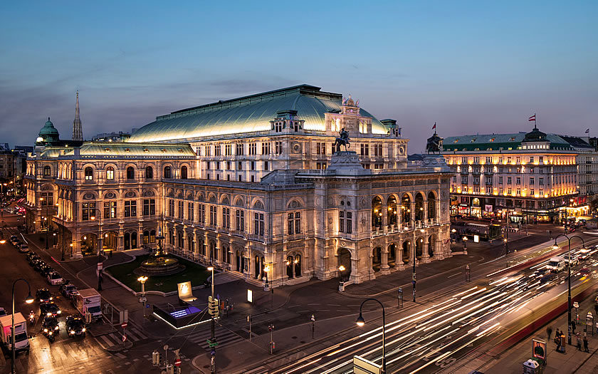 The Vienna State Opera building on the Ringstrasse.
