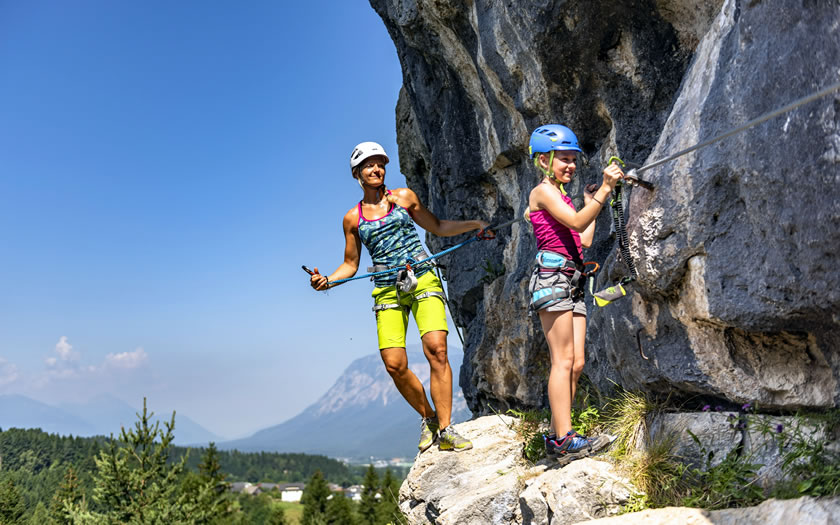 Climbing at the Faaker See