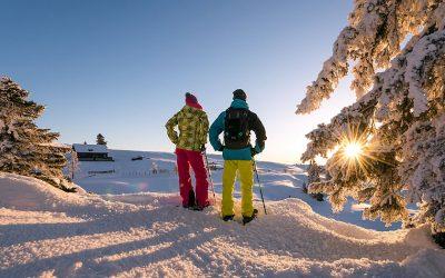 Snowshoe walk in the Naturpark Dobratsch