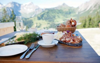 Breakfast with a view in the Vorarlberg
