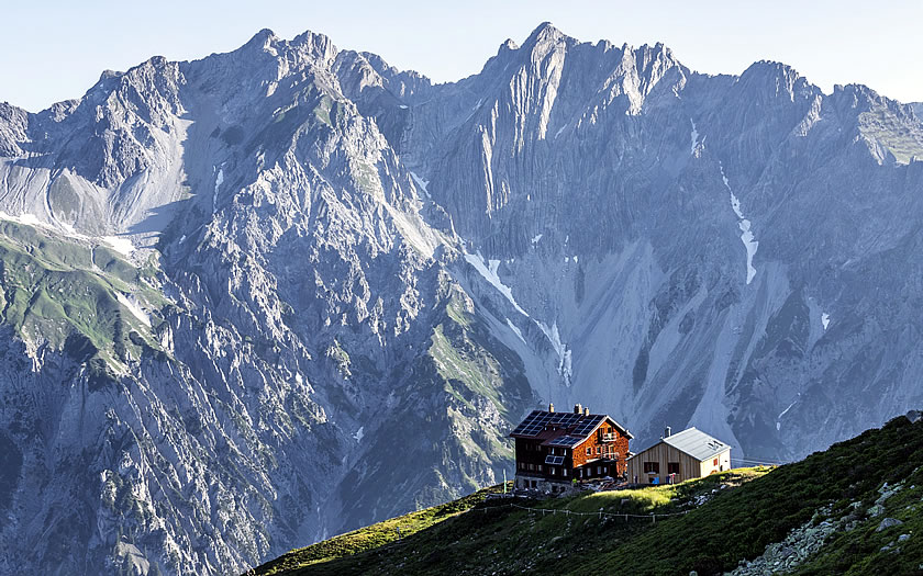 The Kaltenberghütte in Vorarlberg
