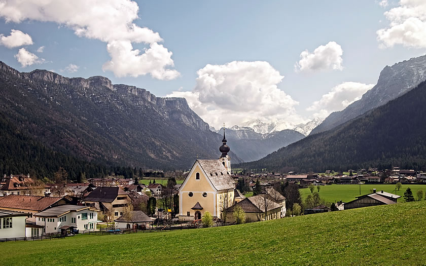 View of Waidring in Tirol